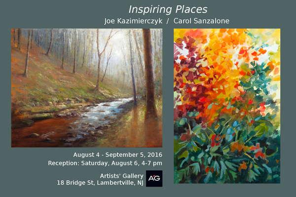 Inspiring Places - The Art of Joe Kazimierczyk and Carol Sanzalone @ Artists' Gallery | Lambertville | New Jersey | United States